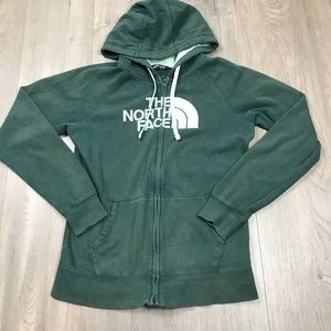 The North Face Tops - The North Face Green Logo Zip Up Hoodie Sweatshirt